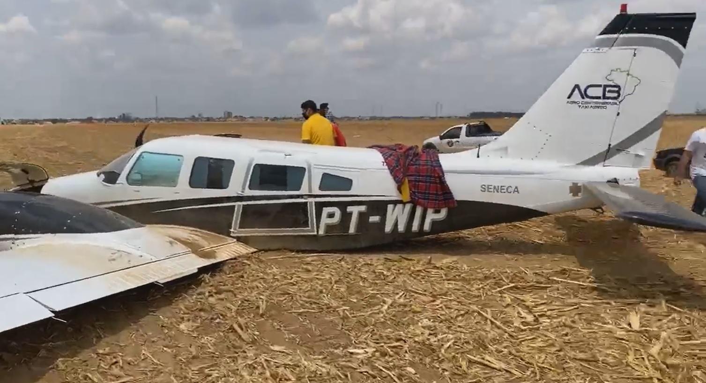 Avião faz pouso de emergência logo após decolar em MT 2