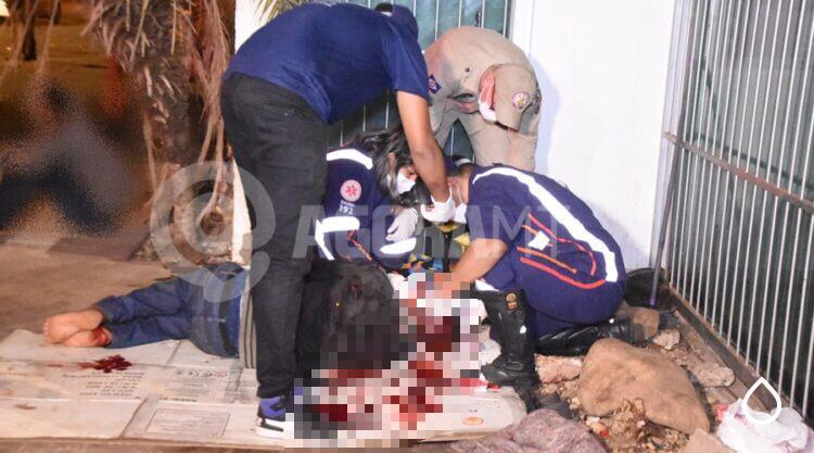 Morador de Rua é agredido com pedrada enquanto dormia