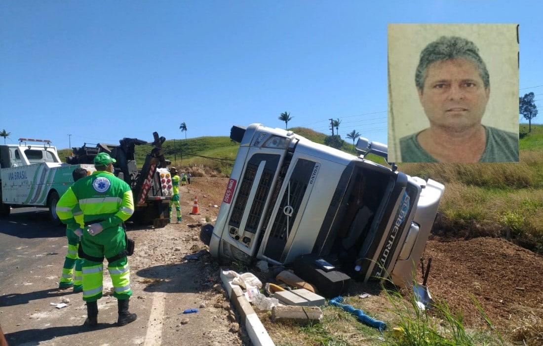 Caminhoneiro morre após acidente na curva da morte
