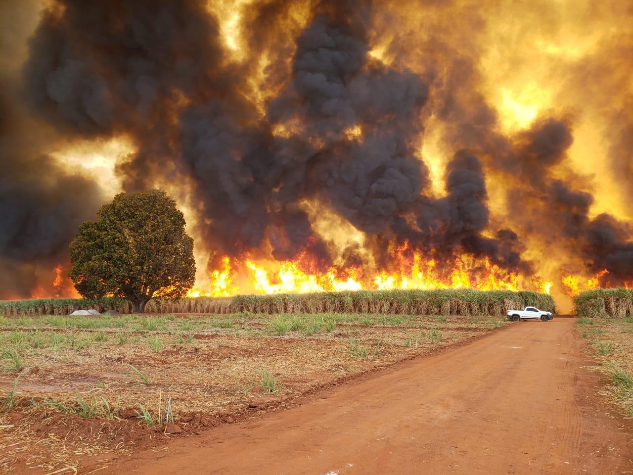 PÂNICO: Incêndio de grandes proporções deixa clima de fim mundo