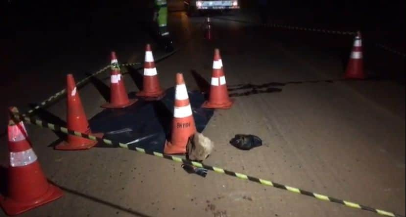 Pedestre morre após ser atropelado por camionete na BR-163 em Sinop 5